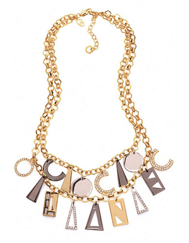 Coco Lane Signature Charm Necklace-TRI COLOUR-One Size