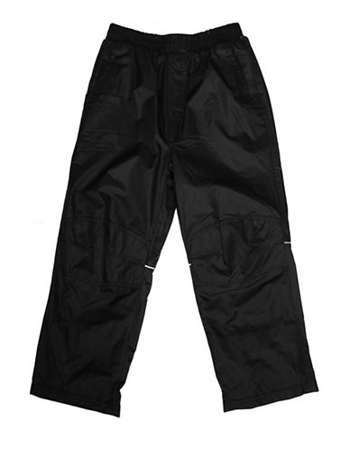 West Coast Connection Girls Fleece-Lined Snowpants-BLACK-Medium