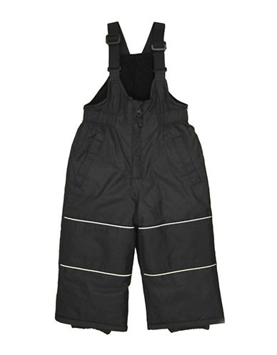 West Coast Connection Pongee Snowpants with Adjustable Suspenders-BLACK-12 Months