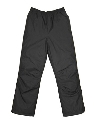 West Coast Connection Pongee Snowpants with Storm Cuff-BLACK-12-18 Months