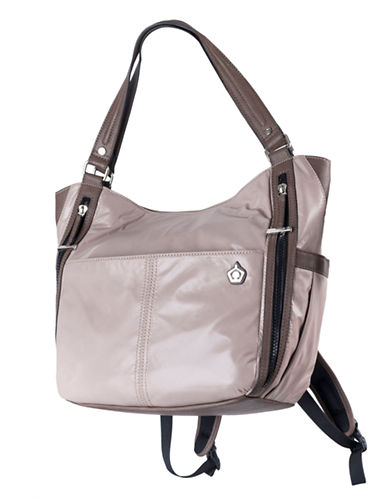 Kbg Fashion Convertible Yoga Tote Backpack-TAUPE-One Size