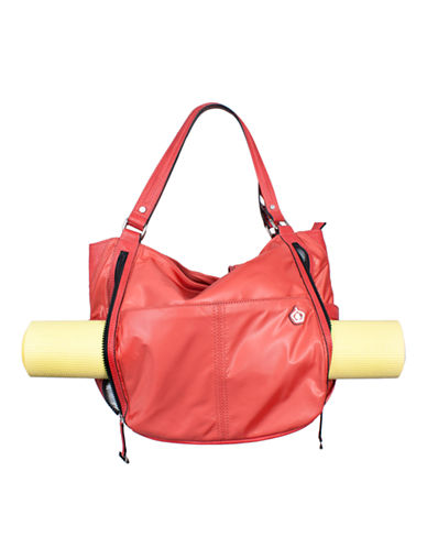 Kbg Fashion Convertible Yoga Tote Backpack-ORANGE-One Size