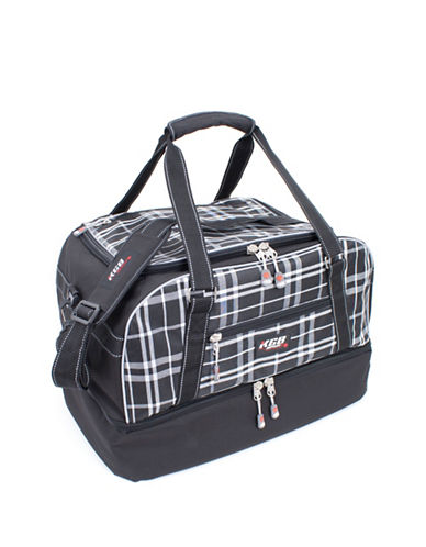 Kgb Drop Bottom Duffle Ski Bag-BLACK/WHITE-One Size