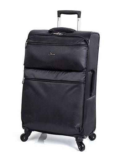 Skyway Bridgeport LP 24 Inch Spinner Suitcase-BLACK-24