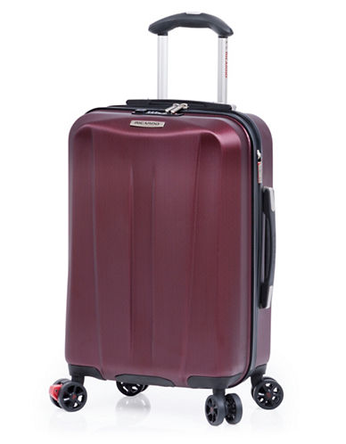 Ricardo Beverly Hills Vernon San Clemente 18 Inch Expandable Spinner Suitcase-BURGUNDY-19