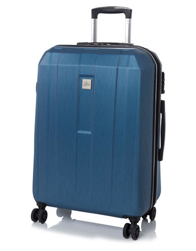 Skyway Finesse 23-Inch Expandable Spinner Suitcase-BLUE-23