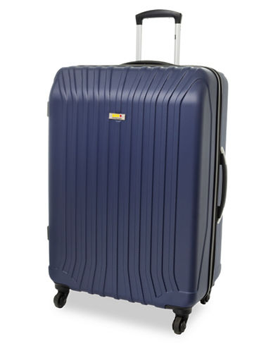 Via Rail Jasper 28-Inch Expandable Spinner Suitcase-NAVY-28