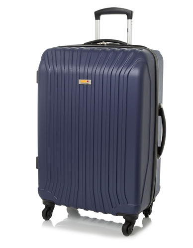 Via Rail Jasper 24-Inch Expandable Spinner Suitcase-NAVY-24