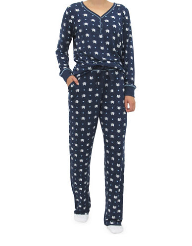 Emily And Jane Crown Pajama Set-NAVY-Large