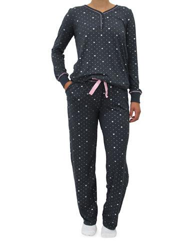 Emily And Jane Crown Pajama Set-GREY-X-Large