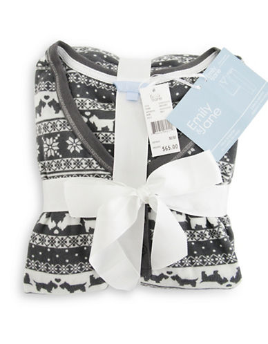 Emily And Jane Allover Nordic Scottie Pyjama Set-GREY-Small