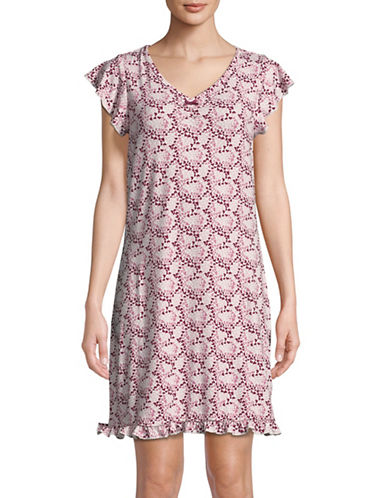 Emily And Jane Heart-Print Sleepshirt-PINK-Large 89945244_PINK_Large