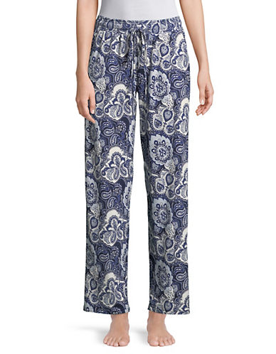 Emily And Jane Paisley-Print Long Pants-BLUE-Small 89969365_BLUE_Small