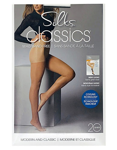 Silks Silks Adjustable Waistless Pantyhose-NATURAL-A