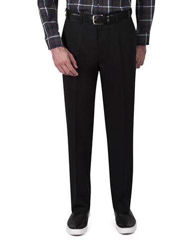 Haggar Classic-Fit Khaki Pants-BLACK-44X30