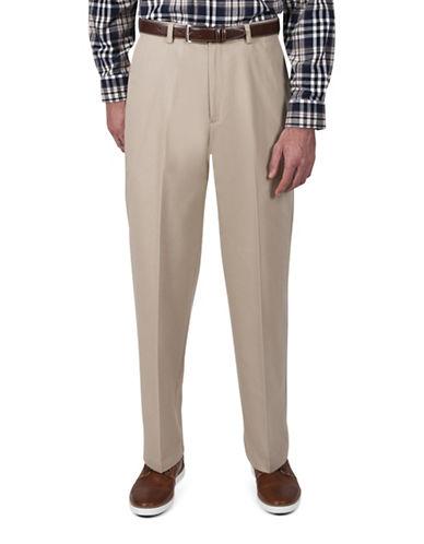 Haggar Classic-Fit Khaki Pants-KHAKI-36X29