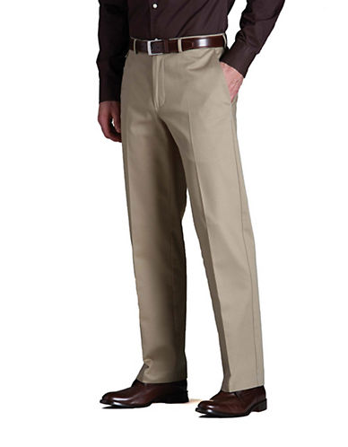 Haggar Work To Weekend Khaki - Classic Fit-KHAKI-42X32