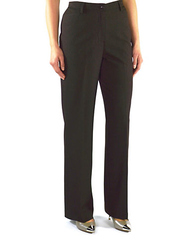 Haggar Essential Pant-HEATHER BROWN-6