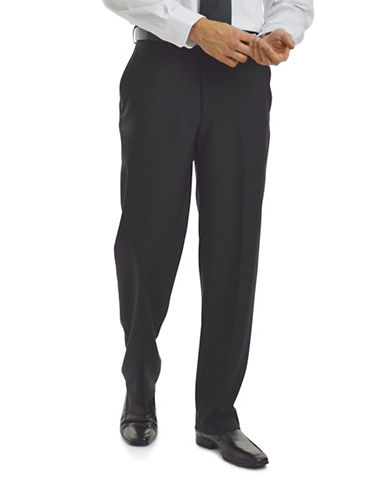 Haggar eClo Dress Pants-BLACK-42X32