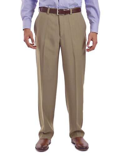 Haggar eClo Dress Pants-BEIGE-34X32