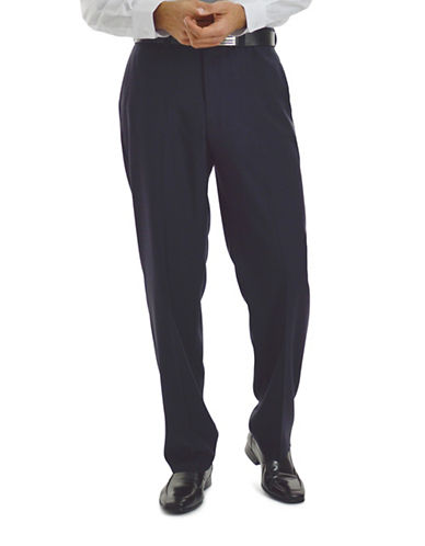 Haggar eClo Dress Pants-NAVY-34X30