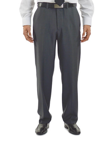Haggar eClo Dress Pants-GREY-32X32