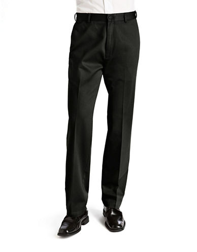 Haggar Work To weekend Khaki - Straight Fit-BLACK-34X34