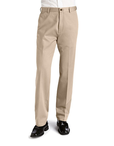 Haggar Work To weekend Khaki - Straight Fit-KHAKI-34X32