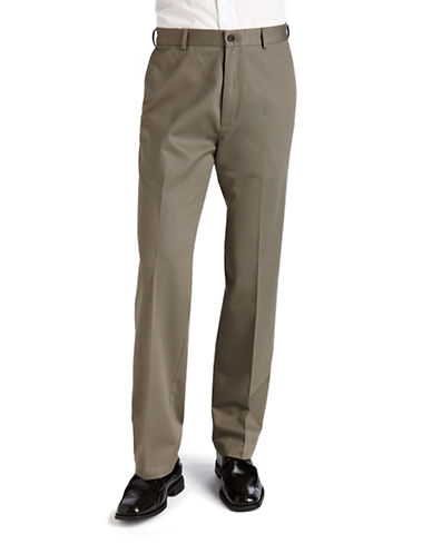 Haggar Work To weekend Khaki - Straight Fit-OLIVE-34X30