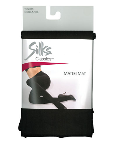 Silks Silks Opaque Matte Tight with Flat Seams-BROWN-B