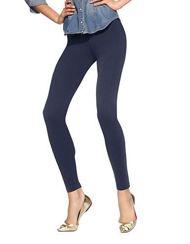 Hue Basic Ankle Length Leggings-NAVY-Small
