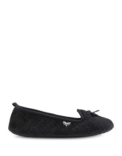 Pretty You London Quilted Ballet Flats-BLACK-Medium