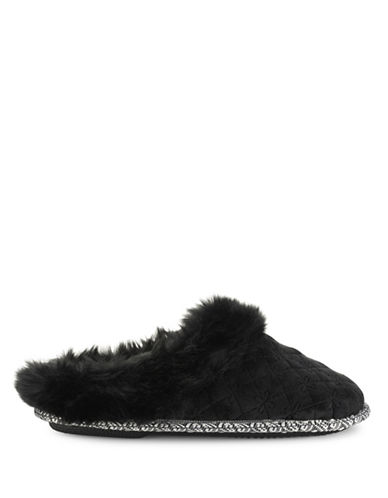 Pretty You London Vera Mule Slippers-BLACK-Medium