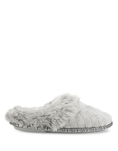 Pretty You London Vera Mule Slippers-GREY-Large