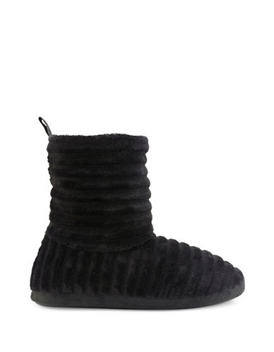 Pretty You London Voya Bootie Slippers-BLACK-Medium