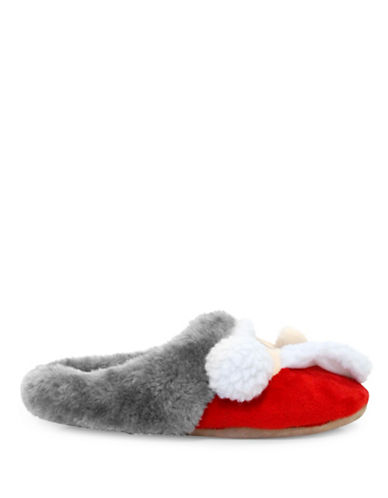 Pretty You London Santa Mule Slippers-RED-X-Large