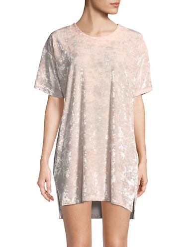 Hue Crushed Velvet T-Shirt Dress-LOTUS-Large