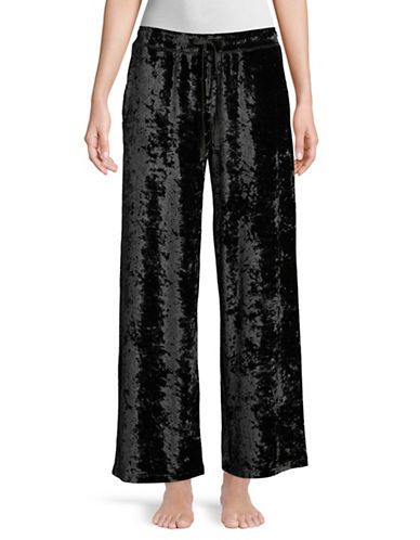 Hue Crushed Velvet Pant-BLACK-X-Large