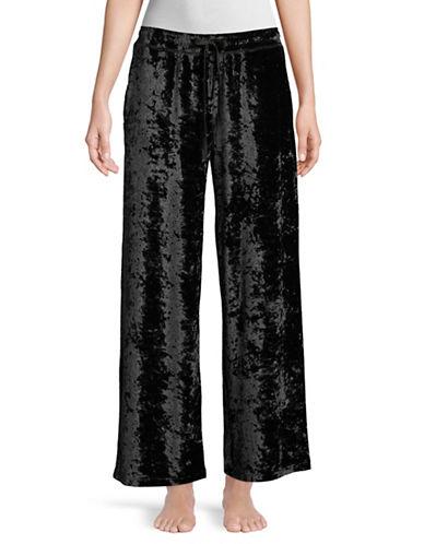 Hue Crushed Velvet Pant-BLACK-Medium