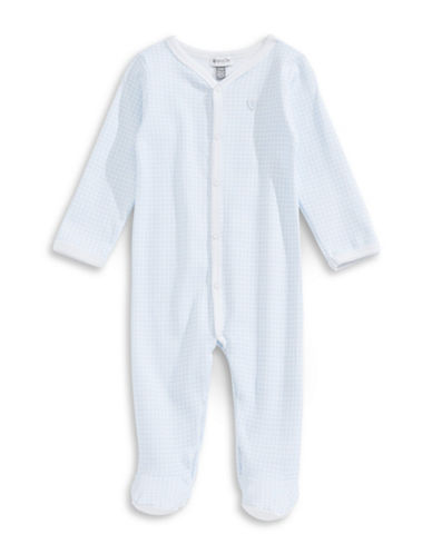 Image of Absorba Square Dot Footed Sleeper-BLUE-3-6 Months