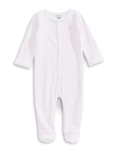 Absorba Square Dot Footed Knot Sleeper-PINK-6-9 Months