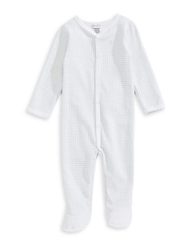Absorba Square Dot Footed Sleeper-GREY-6-9 Months