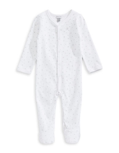Image of Absorba Starry Dot Footed Sleeper-GREY-6-9 Months