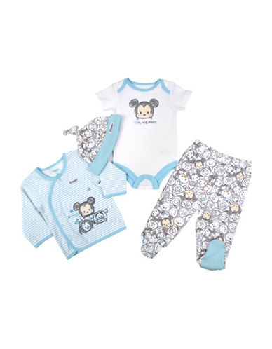 Disney Take Me Home Mickey Four-Piece Set-BLUE-9 Months
