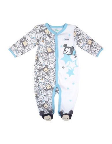 Disney Mickey Footed Sleeper-BLUE-3 Months
