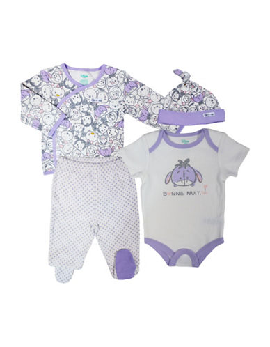 Disney Take Me Home Eeyore Four-Piece Set-PURPLE-3 Months