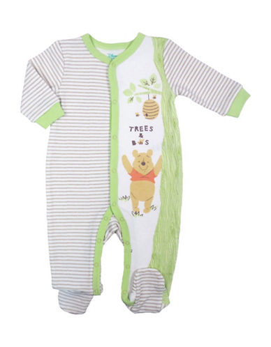 Disney Winnie the Pooh Colourblock Footed Sleeper-NATURAL-Newborn