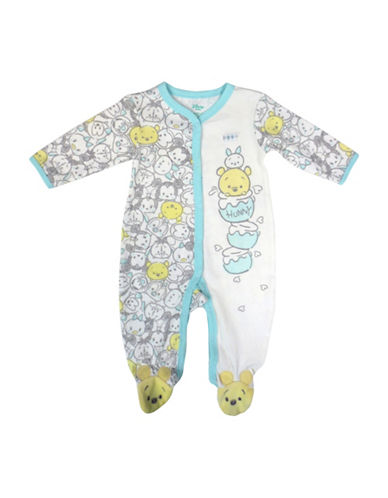 Disney Winnie the Pooh Footed Sleeper-BLUE-9 Months