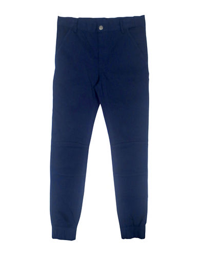 Rococo Twill Cuffed Pants-BLUE-Large 88515494_BLUE_Large
