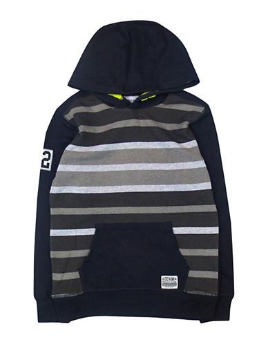 Rococo Popover Stripe Hoodie-BLACK-Medium 88612889_BLACK_Medium